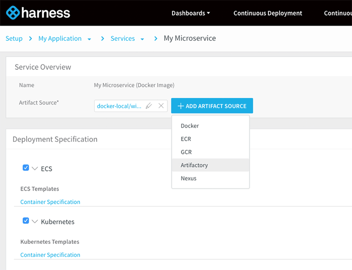 Harness Service Overview - Harness Continuous Delivery - Product Shot