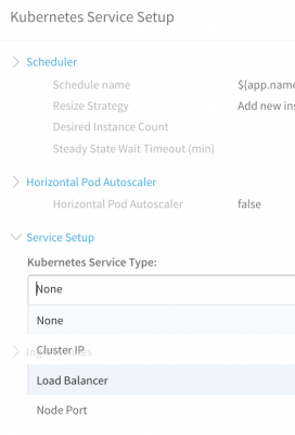 Load Balancer - Kuberenetes Service Setup - Harness Continuous Delivery