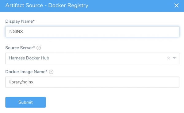 Artifact Source - Docker Registry - Harness Continuous Delivery
