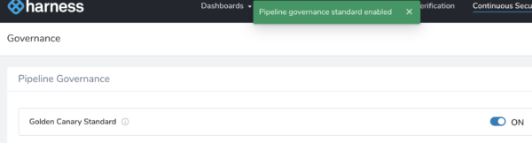 Pipeline Governance - Harness Continuous Delivery