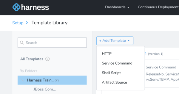 Templates - Harness Continuous Delivery